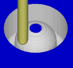 Cutviewer simulation of a waterline path